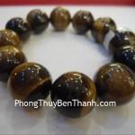 Chuỗi hạt đá mắt mèo vân gỗ Trung Quốc đeo tay S201