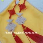 Ngọc bội vạn tự đá ngọc cẩm thạch biểu tượng may mắn S536