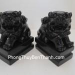 Cặp sư tử phong thủy đá Lam Ngọc tăng thêm uy phong DT153
