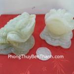 Cóc ba chân Thiềm thừ đá Cẩm thạch Tây Tạng nhỏ kinh doanh phát đạt CTT S